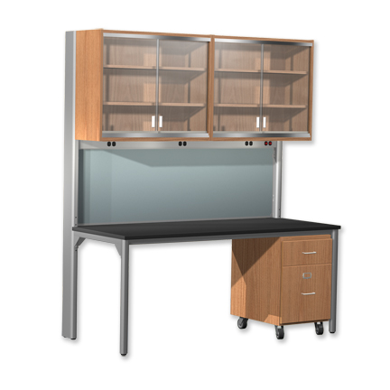 Desk Unit with Wall Cabinets